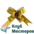Бант бабочка Фактура золото