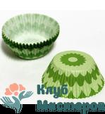 Корзинка бумажная Зеленый цветок