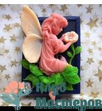 Форма 3D силиконовая Ангел с цветами