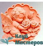 Форма 3D силиконовая Ангел с розами 2