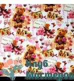 Бумага для творчества Медведи с цветами