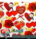 Бумага для творчества Сердца и розы