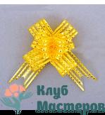 Бант бабочка Золотой горох желтый