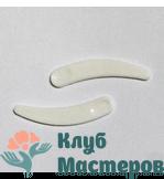 Лопаточка для крема пластик белая 37мм
