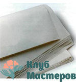 00 Бумага водорастворимая чистый лист