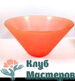 Миска пластиковая Красная/белая