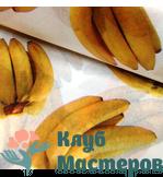 Бумага тишью Бананы