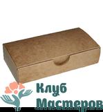 Коробочка картон крафт прямоугольная Большая