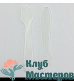 Лопаточка для крема пластик прозрачная 80 мм (прямая)