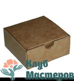 Коробочка картон крафт квадратная Малая