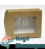 Коробочка картон крафт прямоугольная с окошком малая 25шт