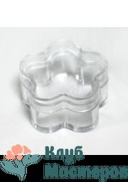 Баночка 005мл пластик прозрачная цветок (для помады/бальзама)