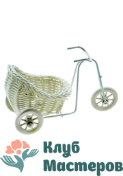 Корзинка Велосипед с коляской
