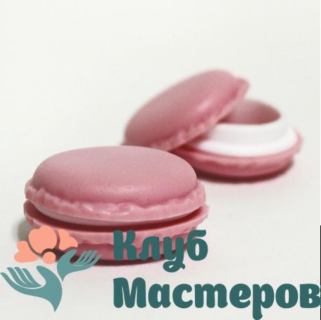 Баночка 008мл пластик розовая Макарун