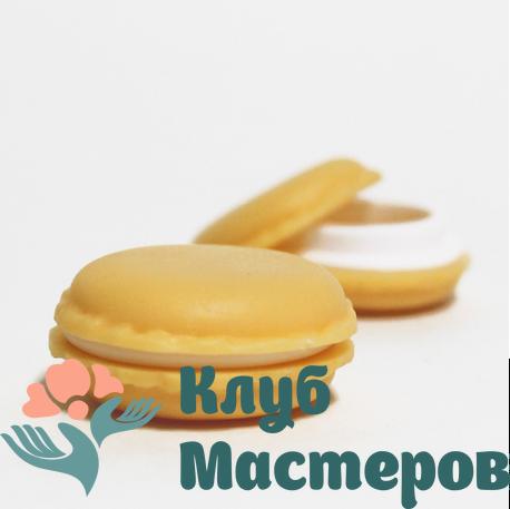 Баночка 008мл пластик желтая Макарун