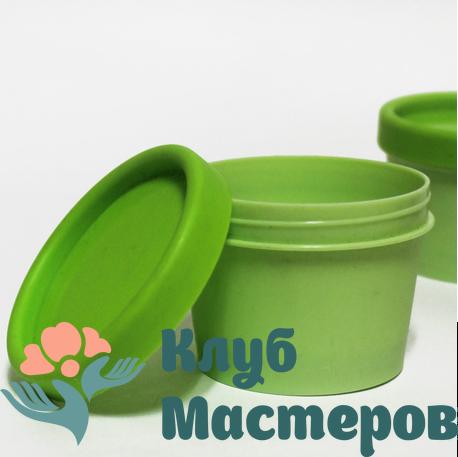 Баночка 100мл пластик зеленая типа Lush