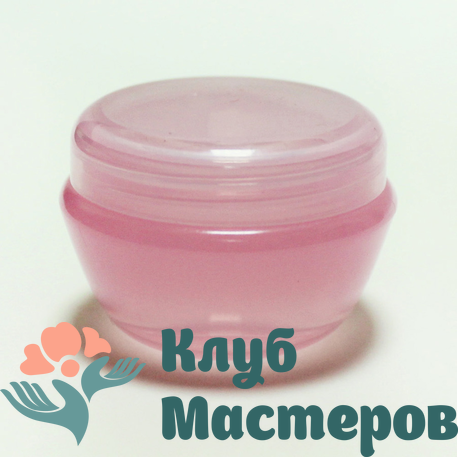 Баночка 010мл пластик розовая перламутровая
