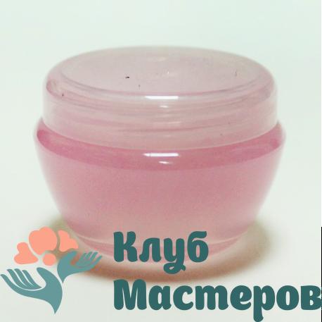Баночка 020мл пластик розовая перламутровая